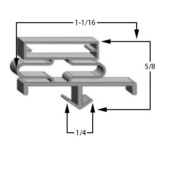 Glastender-Gasket-19-1/4-x-32-1/2-29-043-ND72-L1-SS(RLR)-ND72-R1-BS-06001309-2