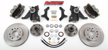 "1971-1972 GMC C-10 13"" Front Disc Brake Kit & 2.5"" Drop Spindles; 6x5.5 Bolt Pattern - McGaughys 63312"