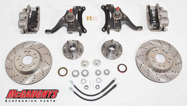 "McGaughys GMC S-15 Jimmy 1983-1994 13"" Front Cross Drilled Disc Brake Kit; 5x4.75 Bolt Pattern - Part# 93125"