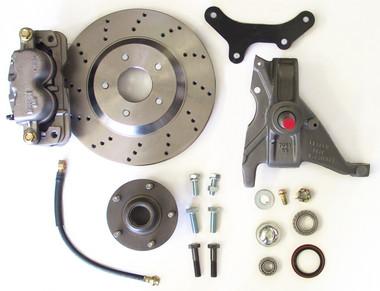 """McGaughys Pontiac Firebird 1979-1981 13"""" Front Cross Drilled Disc Brake Kit & 2"""" Drop Spindles; 5x4.75 Bolt Pattern - Part# 64080"""