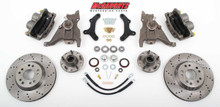 "McGaughys Pontiac Firebird 1979-1981 13"" Front Cross Drilled Disc Brake Kit & 2"" Drop Spindles; 5x4.75 Bolt Pattern - Part# 64080"