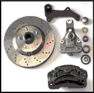 "McGaughys Pontiac Firebird 1979-1981 13"" Front Disc Brake Kit & 2"" Drop Spindles; 5x4.75 Bolt Pattern - Part# 64079"