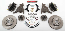 "McGaughys Pontiac Firebird 1979-1981 13"" Front Disc Brake Kit & 2"" Drop Spindles; 5x4.75 Bolt Pattern - Part# 64079"