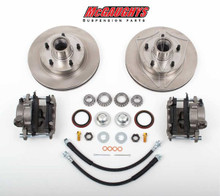 "McGaughys Pontiac GTO 1964-1972 Front Disc Brake Kit For Drop Spindles; 5x4.75"" Bolt Pattern - Part# 63205"