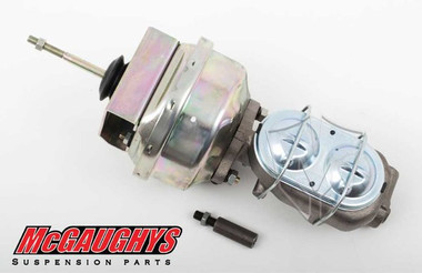 "McGaughys Chevrolet C-10 1960-1966 7"" Brake Booster With Master Cylinder & Bracket; Front Disc Brakes - Part# 63177"