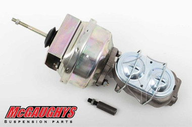 "McGaughys Chevrolet C-10 1960-1966 7"" Brake Booster With Master Cylinder & Bracket; Front Drum Brakes - Part# 63178"