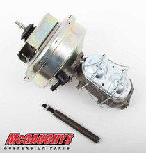 "McGaughys Chevrolet C-10 1960-1966 9"" Brake Booster With Master Cylinder & Bracket; Front Drum Brakes - Part# 63182"