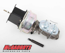 "McGaughys Chevrolet C-10 1967-1972 7"" Brake Booster With Master Cylinder & Bracket; Front Drum Brakes - Part# 63180"