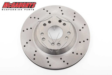 "McGaughys 13"" Cross Drilled Disc Brake Rotor; 5x4.75 & 5x5 Bolt Pattern - Driver Side - Part# 63146"