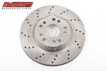 "McGaughys 13"" Cross Drilled Disc Brake Rotor; 5x4.75 & 5x5 Bolt Pattern - Passenger Side - Part# 63147"