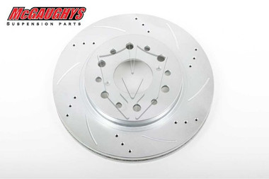 "McGaughys Chevrolet C-10 1960-1987 13"" Cross Drilled Disc Brake Rotor; 6x5.5 Bolt Pattern - Driver Side - Part# 63141"