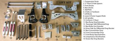 "Chevrolet Silverado 3500HD 4wd 1999-2010 7"" Lift Kit W/Shocks - McGaughys Part# 52051"