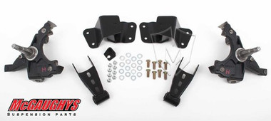 "McGaughys Chevrolet C1500 Silverado W/ 1.25"" Thick Rotors 1988-1998 2/4 Deluxe Drop Kit - Part# 33134"