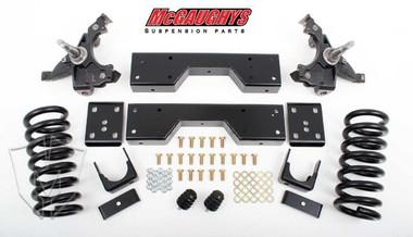 """McGaughys Chevrolet C1500 Silverado W/ 1"""" Thick Rotors 1988-1998 4/6 Deluxe Drop Kit - Part# 33138"""