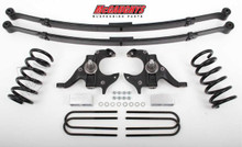 McGaughys Chevrolet S-10 Extended Cab 1982-2003 4/5 Deluxe Drop Kit W/Leaf Springs - Part# 93117