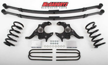 McGaughys Chevrolet S-10 Extended Cab 1982-2003 4/6 Deluxe Drop Kit W/Leaf Springs - Part# 93119