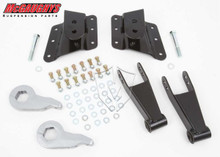 "2001-2010 Chevy Silverado 2500/3500 HD W/ 6 Hole Hangers 2/4"" Economy Drop Kit - McGaughys 33083"