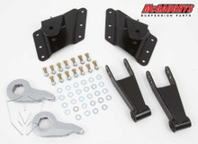 "2001-2010 Chevy Silverado 2500/3500 HD W/ 8 Hole Hangers 2/4"" Economy Drop Kit - McGaughys 33080"