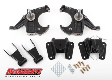"""McGaughys GMC C-10 W/ 1"""" Thick Rotors 1973-1987 2.5/4 Deluxe Drop Kit - Part# 93130"""
