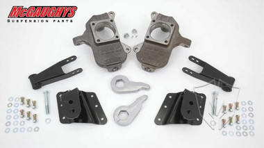 """2001-2010 GMC Sierra 2500/3500 HD W/ 6 Hole Hangers 3/5"""" Deluxe Drop Kit - McGaughys 33084"""