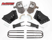 "2001-2010 GMC Sierra 2500/3500 HD W/ 10 Hole Hangers 2/4"" Deluxe Drop Kit - McGaughys 33075"