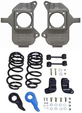 McGaughys Hummer H2 Rear Coil Suspension 2003-2009 3/5 Deluxe Drop Kit - Part# 93096