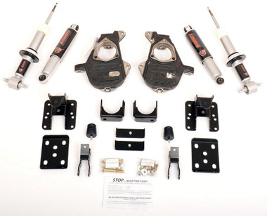 2014-2015 Chevy Silverado 1500 Crew Cabs 3/5,4/6 & 5/7 Adjustable Drop Kit - McGaughys 34170
