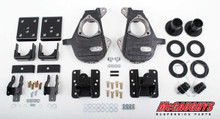 2014-2015 Chevy Silverado 1500 Crew Cab 3/5,4/6 & 4/7 Adjustable Drop Kit - McGaughys 34160 (Installed) 3/4 Front view