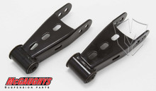 "2014-2017 GMC Sierra 1500 2wd/4wd 1""-2"" Rear Drop Shackles - McGaughys 33037"