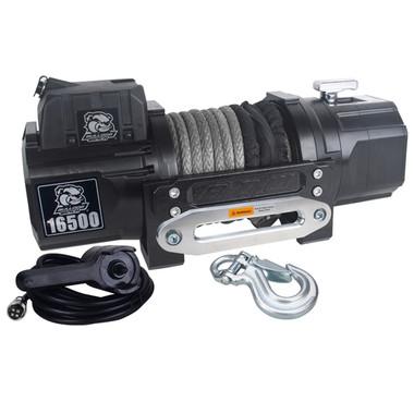 16500lb Heavy-duty Steel Winch w/ Roller Fairlead - Bulldog Winch 10057