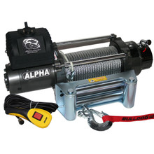 9300lb Alpha Series with 6.0hp W/ Roller fairlead Bulldog Winch- 10013