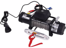 8000lb Winch w/5.2hp Series Wound Motor,100ft Synthetic Rope, Alum Frld Bulldog Winch - 10044