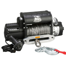 10000lb Winch w/5.8hp 100ft Synthetic Rope W/ Aluminum Fairlead Bulldog Winch- 10017
