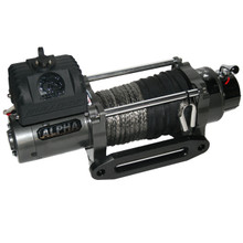 9300lb Alpha Series w/6.0hp 100ft Synthetic Rope W/ Aluminum Fairlead Bulldog Winch- 10019