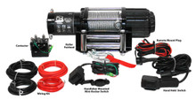 4000lb UTV/Utility Winch, Two Switches, Mounting Channel, Roller Fairlead  Bulldog Winch- 15004