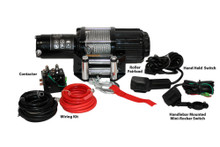 3500lb UTV/Utility Winch, Two Switches, Mounting Channel, Roller Fairlead  Bulldog Winch- 15005