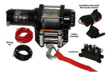 2500lb ATV Winch, with Mini-Rocker Switch, Mounting Channel, Roller Fairlead  Bulldog Winch- 15006