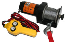 2000lb Utility Winch, 50ft wire rope, hand held controller  Bulldog Winch- 15008