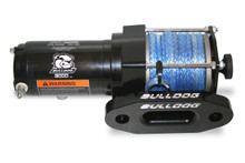 3000lb ATV Winch with Synthetic Rope W/ Aluminum Hawse Fairlead  Bulldog Winch- 15011