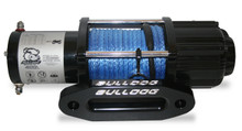 4000lb UTV/Utility Winch, 50ft Synthetic Rope W/ Aluminum Hawse Fairlead  Bulldog Winch- 15012