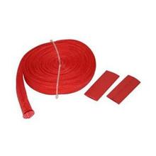 "Wire Sheathing, high heat fiberglass 10mm x 25ft (3/8"") red  Bulldog Winch- 20138"