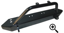 TJ Front Bumper, Stubby w/light bar and shackle mounts  Bulldog Winch - 21000