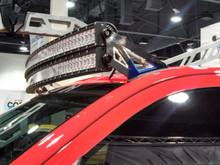 2014-2016 Silverado & Sierra 1500, 2500 & 3500 Black Windshield LED Light Bar Mounts (Double Bars)