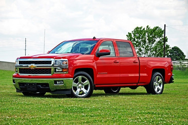 2014-2018 Chevy Silverado 1500 2wd/4wd Double Cab 2/4 Economy Lowering Kit - 34110 (Front Installed)