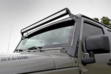 "2007-2014 Jeep JK LED Bar Windshield Mount Fits 50"" Light Bars - RCX-70504"