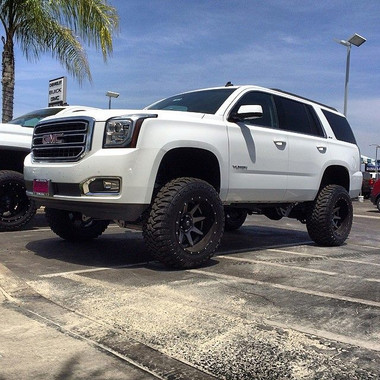 "2015 Chevrolet Silverado 1500 Double Cab >> 2015-2018 GMC Yukon 4wd Auto Ride 7"" Black SS Lift Kit ..."
