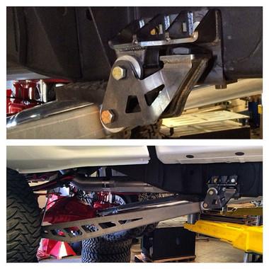 2011-2019 Chevy Silverado 2500/3500 HD Rear Traction Bars - McGaughys 52318 (Frame Mount)