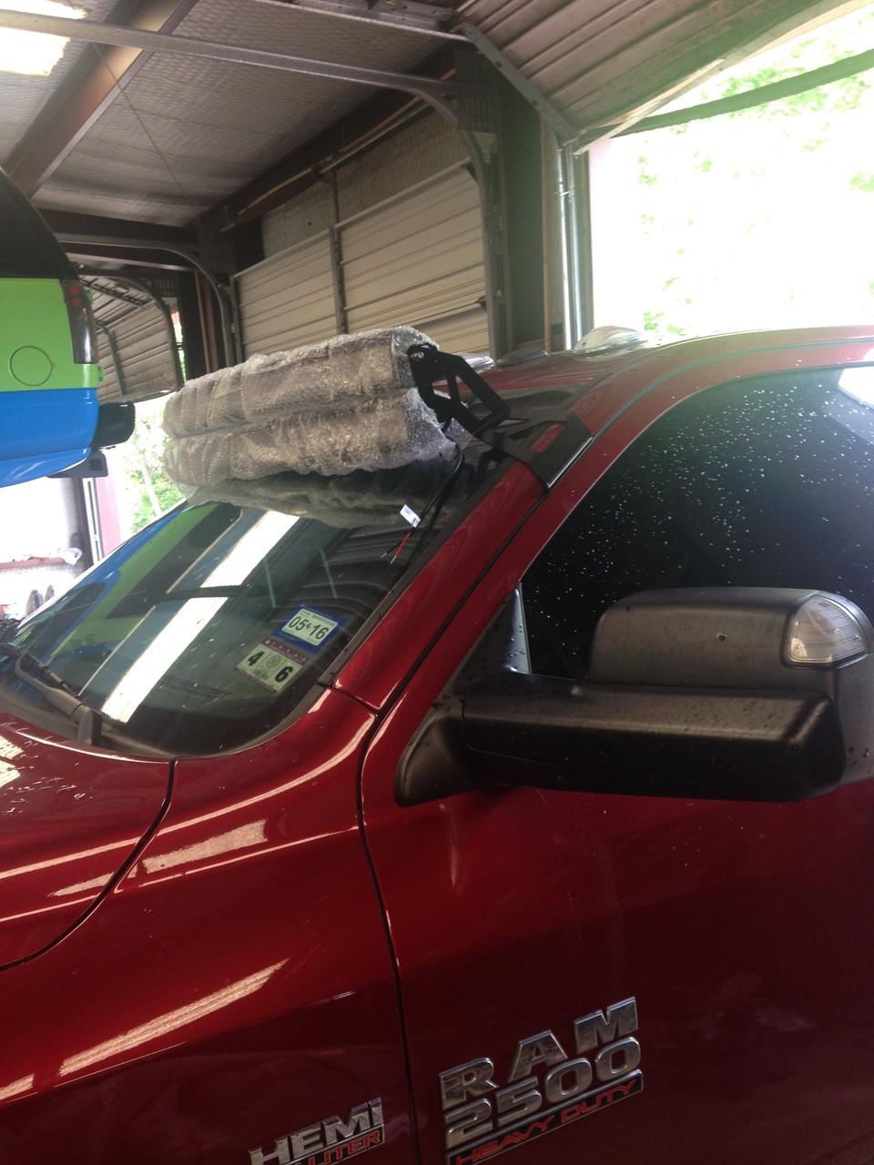 2009 2015 dodge ram 25003500 black windshield led light bar mounts 2009 2015 dodge ram 25003500 black windshield led light bar mounts double bars proramlbm dbl aloadofball Choice Image