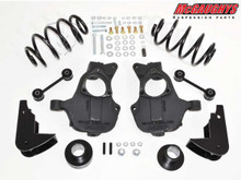 """2015-2018 GMC Yukon 2wd W/O Auto Ride 3/5"""" Basic Lowering Kit - McGaughys 34216"""