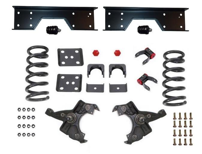 """1999-2006 Silverado Sierra 1500 V6 1/"""" Lowering Drop Coils Springs Crown Kit"""